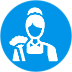 structured training icon for maid employment